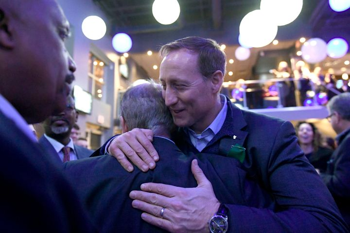 Peter MacKay greets supporters at a meet and greet event in Ottawa on Jan. 26, 2020.