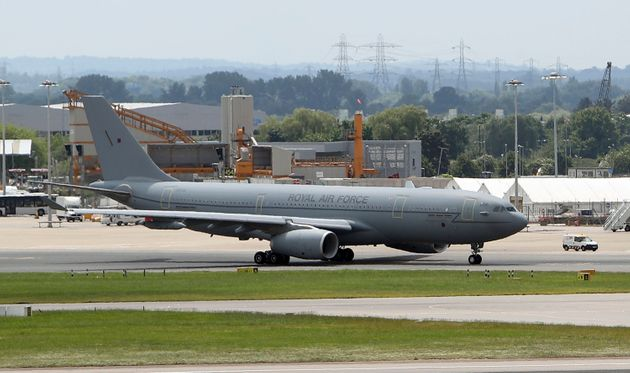 An RAF Voyager used by the Prime Minister and members of the royal family which is to be repainted in...