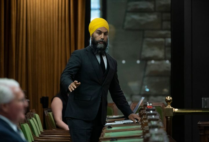 NDP Leader Jagmeet Singh rises in the House of Commons  on June 17, 2020.