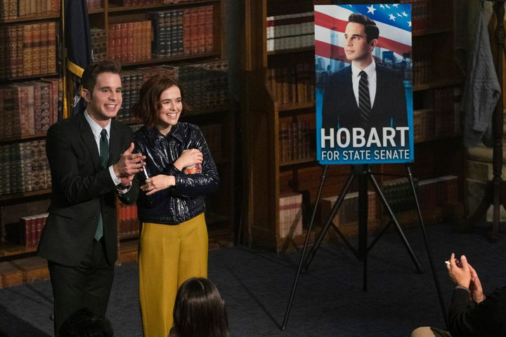 "Ben Platt and Zoey Deutch in the second season of ""The Politician."""