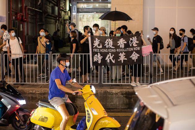 香港では反政府デモから6月9日で一年となった