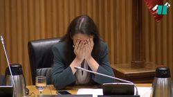 Irene Montero se lleva las manos a la cabeza al escuchar esta frase de una diputada de