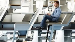 Το πρώτο διώροφο κάθισμα σε αεροπλάνο δείχνει το μέλλον των