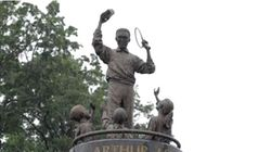 Black Sports Icon's Statue Defaced With 'White Lives