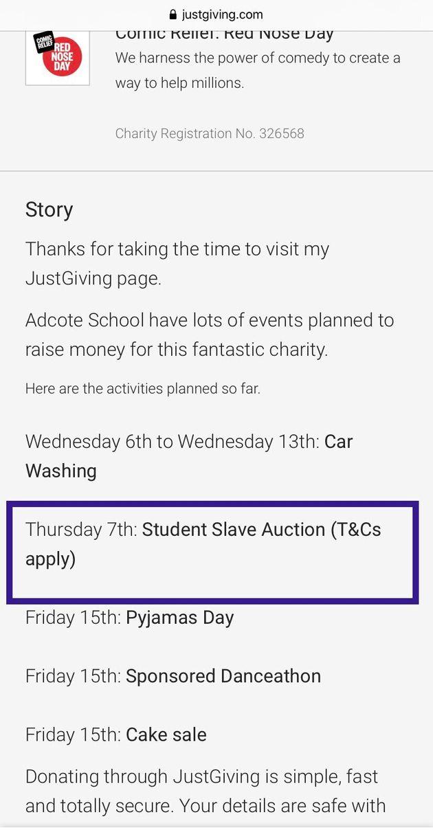 Adcote Slave Auction
