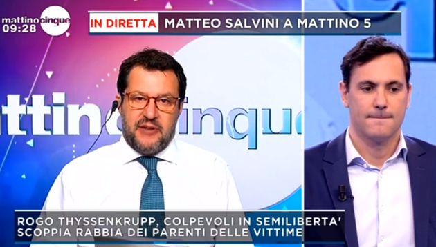 Matteo Salvini a Mattino