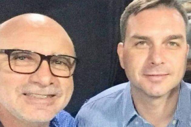 Flávio Bolsonaro e seu ex-assessor, Fabrício Queiroz, preso nesta