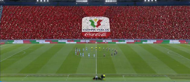 Il pubblico virtuale durante la finale di Coppa