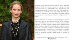 Jennifer Lawrence Joins Twitter, Immediately Demands Justice For Breonna