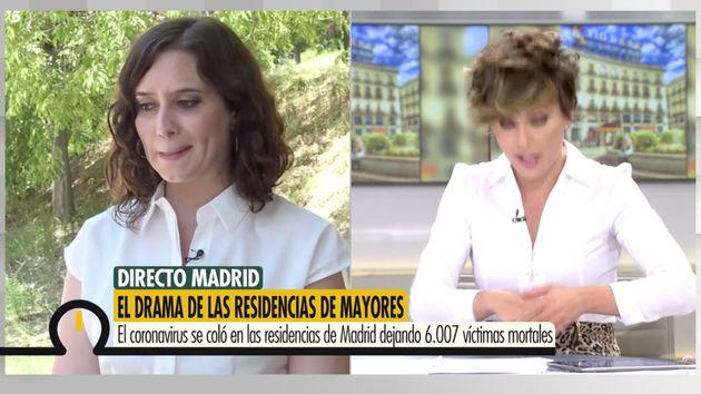 Isabel Díaz Ayuso en 'Ya Es Mediodía' (Telecinco) con Sonsoles