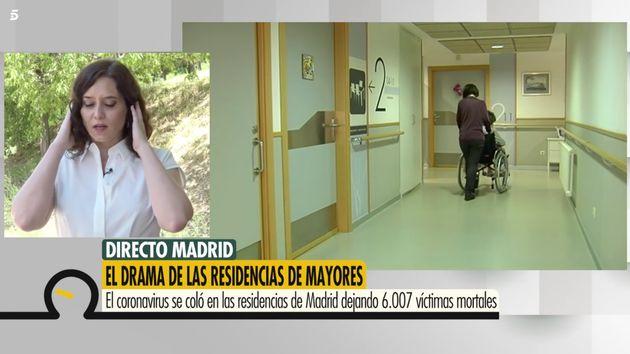 Díaz Ayuso en 'Ya Es Mediodía' (Telecinco) con Sonsoles