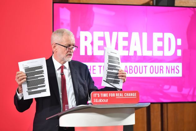 Jeremy Corbyn campaigning on claims the Tories would sell off the NHS to the