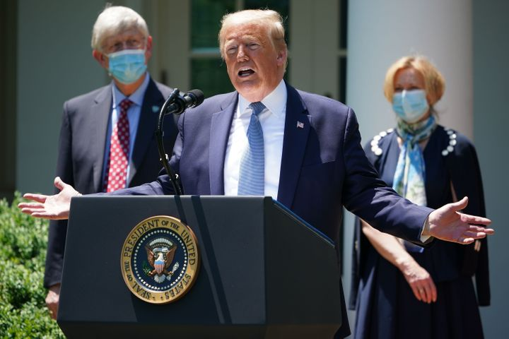 President Donald Trump, seen in May, called the anti-malaria drugs chloroquine and hydroxychloroquine