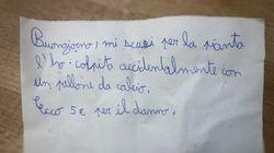 Il biglietto del bambino di 11 anni: