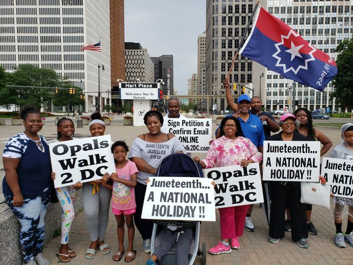 Opal Lee and her supporters for the campaign to make Juneteenth a national holiday.