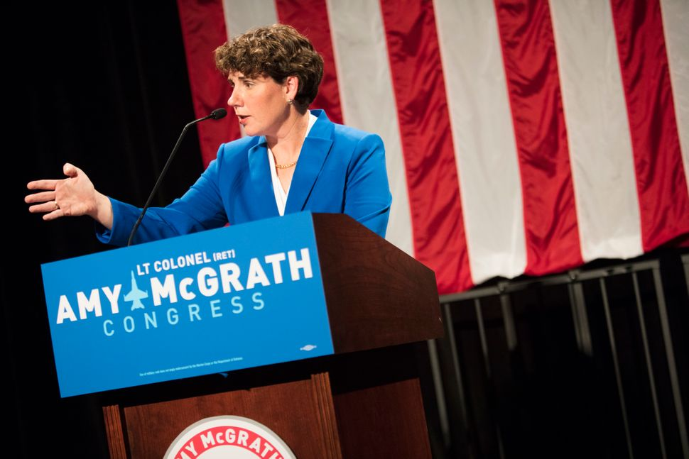 McGrath was the early pick of the Democratic establishment after she overcame a massive deficit to win a 2018 House primary a