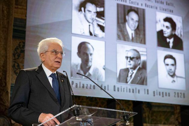 Il presidente della Repubblica, Sergio