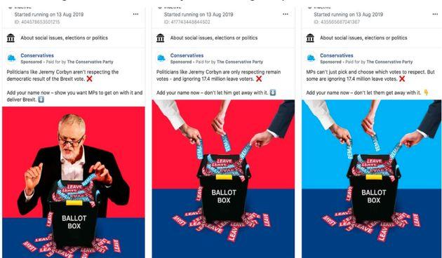 Tory Facebook ads run during summer