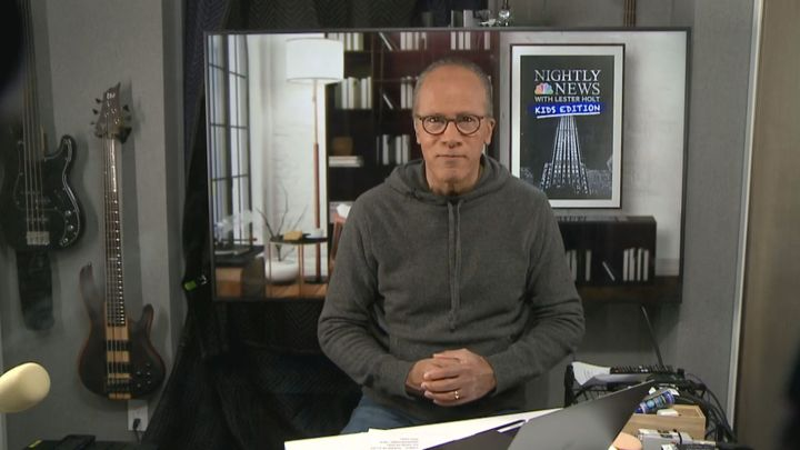 "NBC host Lester Holt wears more casual attire for ""Nightly News: Kids Edition."""
