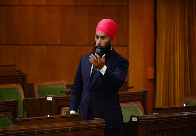 NDP Leader Jagmeet Singh asks a question during the special committee on the COVID Pandemic in the House...