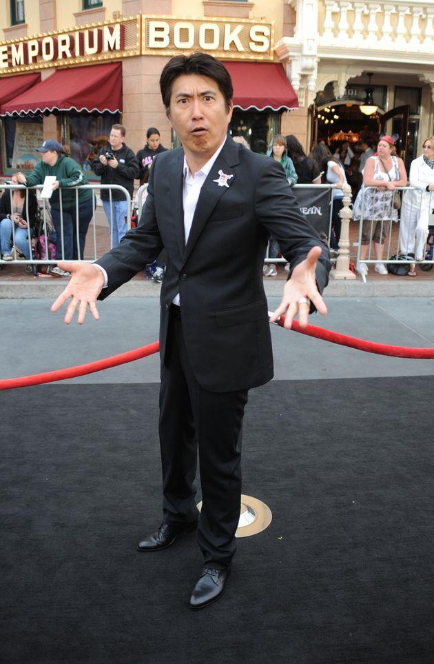 石橋貴明さん=2011年5月7日、映画『パイレーツ・オブ・カリビアン』プレミア