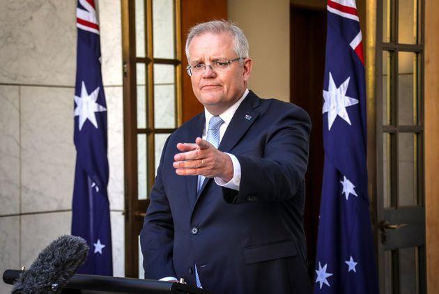 Le premier ministre australien Scott Morrison, ici en mars 2020 à Canberra, a estimé que la cyber-attaque...