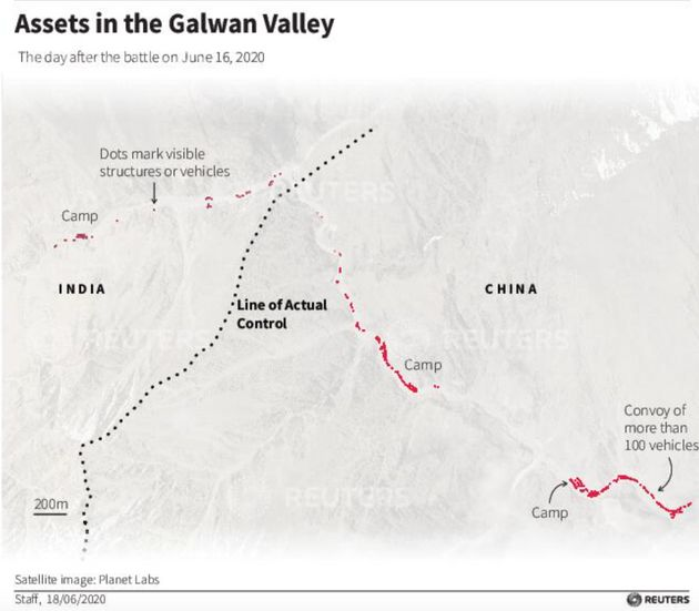 China Brought Machinery, Cut Trail In Galwan Valley In Week Before Clash With India, Satellite Images