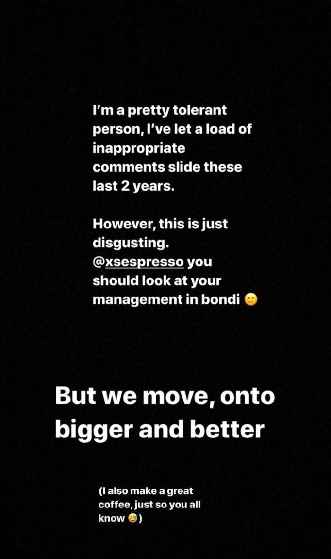 Ayo posted updates as they happened on Instagram Stories