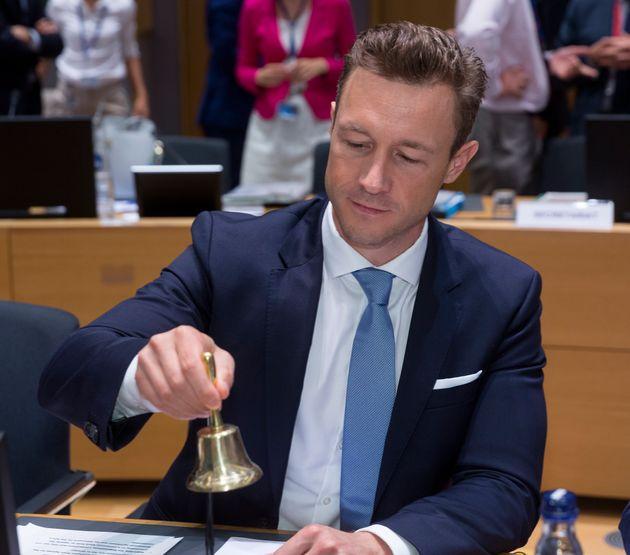 BRUSSELS, BELGIUM - SEPTEMBER 18, 2018 : Austrian Chancellery Minister for the EU, Art, Culture and Media...