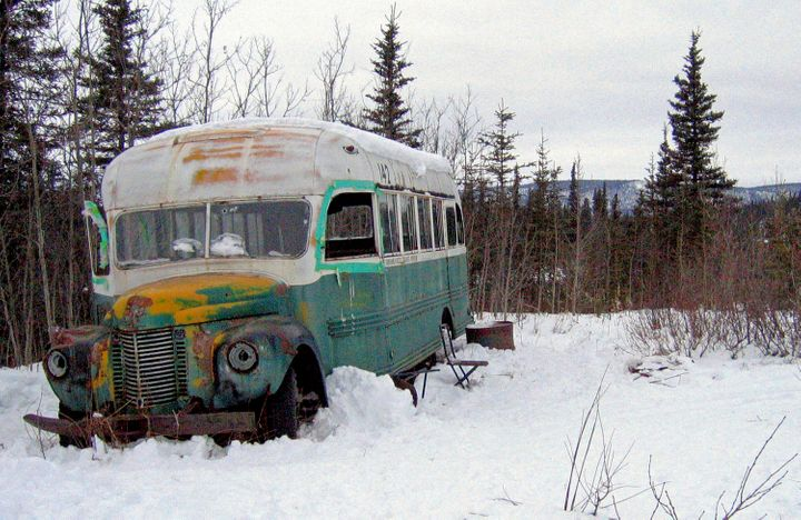 This 2006 file photo shows the abandoned bus where Christopher McCandless starved to death in 1992 near Healy, Alaska.