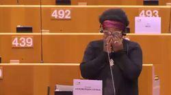 Le lacrime della eurodeputata: