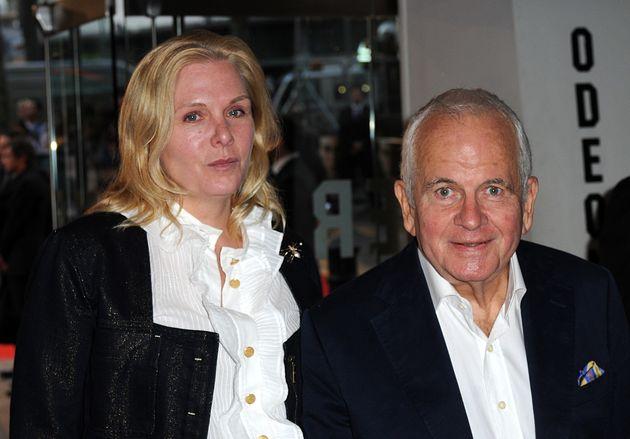 Ian Holm com sua esposa Sophie de