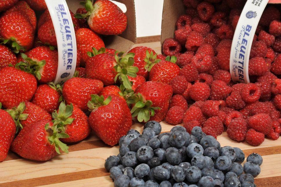 Nathalie Bruneau cultive des fraises, des framboises et des bleuets dans ses champs.