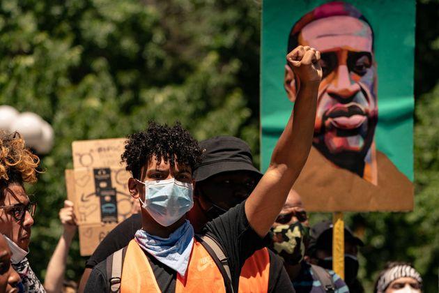 Protesta por la muerte de George Floyd, en Nueva