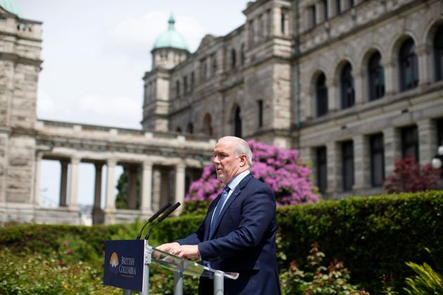 B.C. Premier John Horgan provides the latest update on the COVID-19 response in the province during a...