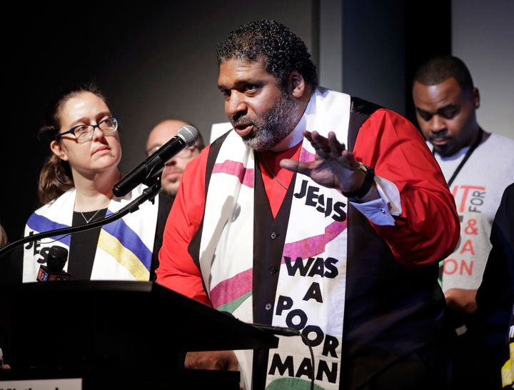 """The Revs. William J. Barber II and Liz Theoharis, co-chairs of the Poor People's Campaign, hope to challenge """"interlocking evils."""""""