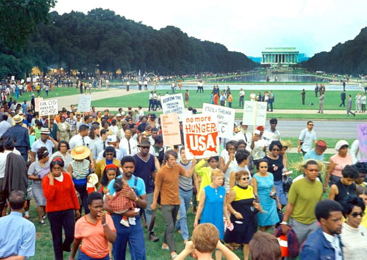 Solidarity Day at the Poor People's Campaign on June 19, 1968, on the National Mall.