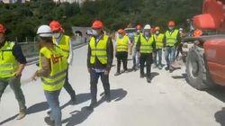 I primi passi di Toti sul nuovo ponte di Genova: