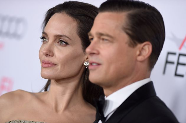 HOLLYWOOD, CA - NOVEMBER 05: Actors Angelina Jolie and Brad Pitt arrive at the AFI FEST 2015 presented...