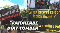 À Lille, la statue de Faidherbe oppose pro-déboulonnage et