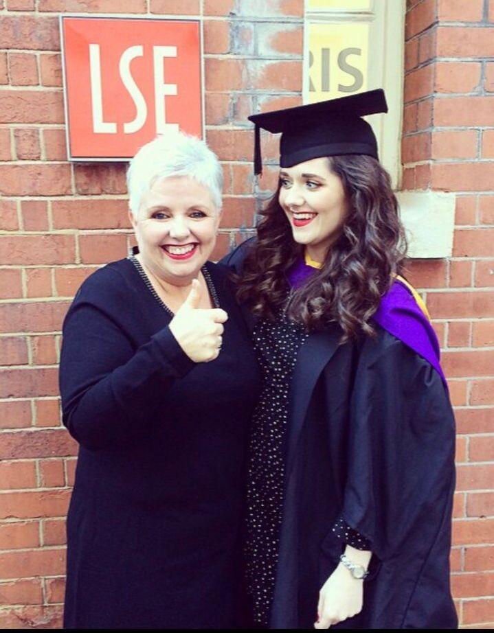 Carol and Natasha at her graduation day.