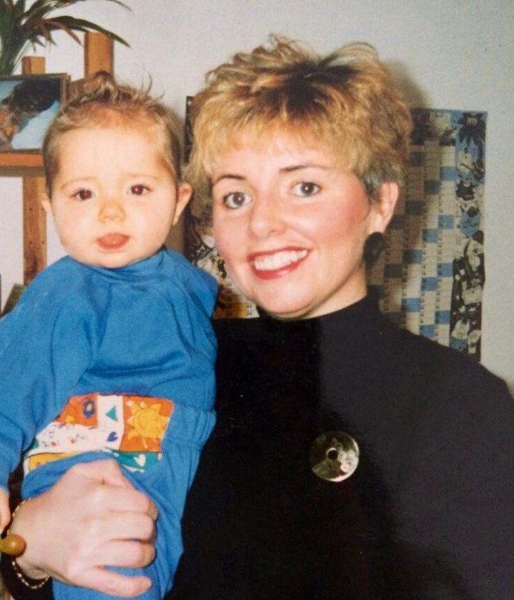 Carol Fox and her daughter Natasha as a young child.