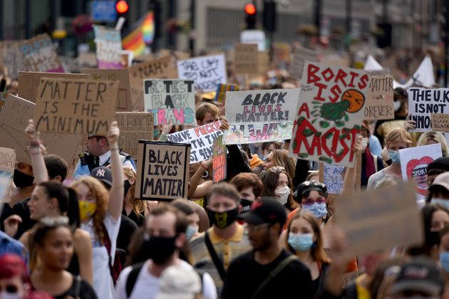 Black Lives Matter protest takes place in Parliament Square,