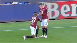 Nkoulou fa goal e si inginocchia. La Serie A nel segno di George