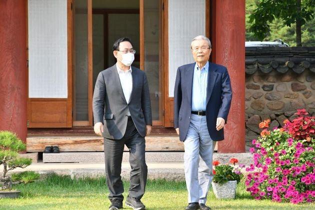 주호영 미래통합당 원내대표와 김종인 통합당