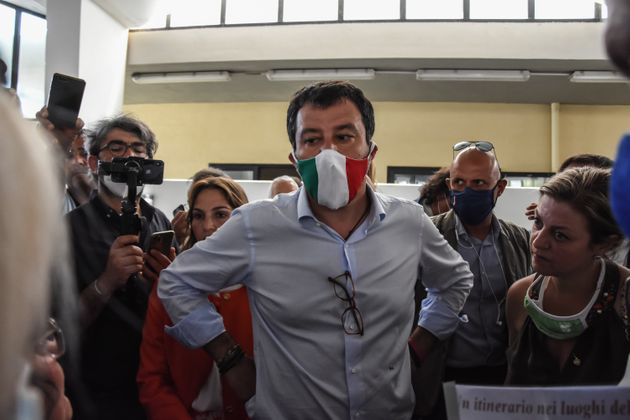 Matteo Salvini, leader of the League, during his political tour in Sicily, met the fishermen of Porticello...
