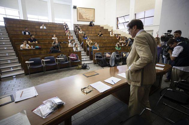 Un'aula dell'Università Sapienza di