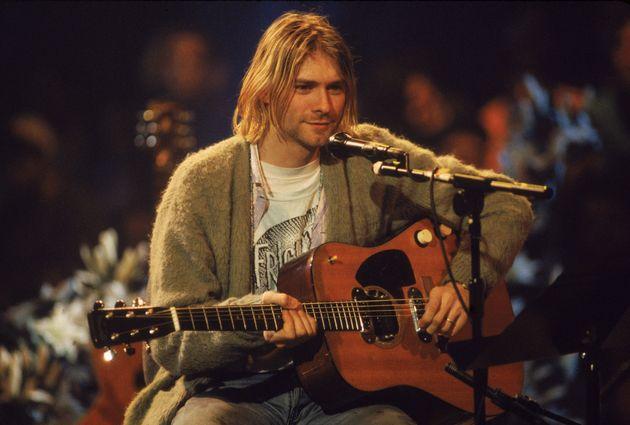 En 1993, c'est sur cette guitare semi-acoustique que Kurt Cobain a enregistré le concert culte...