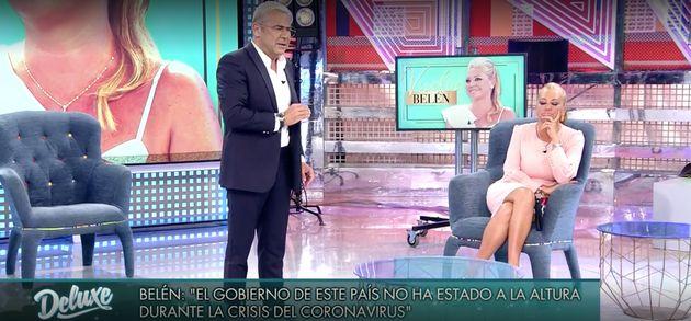 Jorge Javier Vázquez abronca a Belén Esteban en 'Sábado