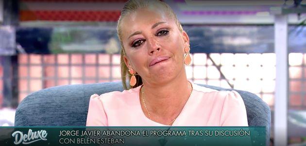 Belén Esteban, llorando en 'Sábado